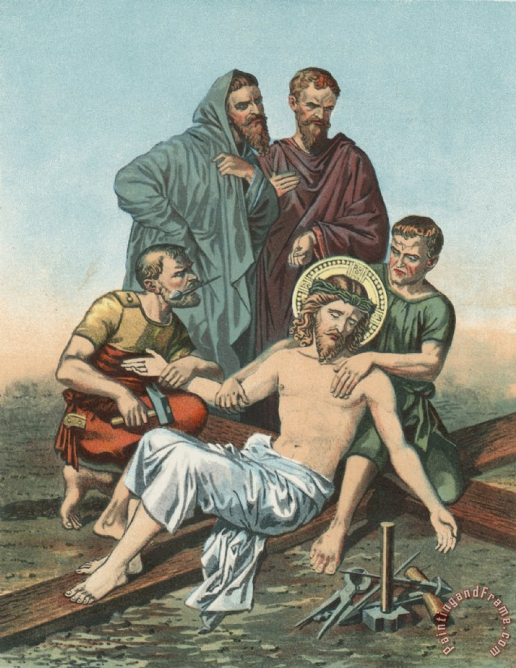 English School Station XI Jesus is Nailed to the Cross painting ...