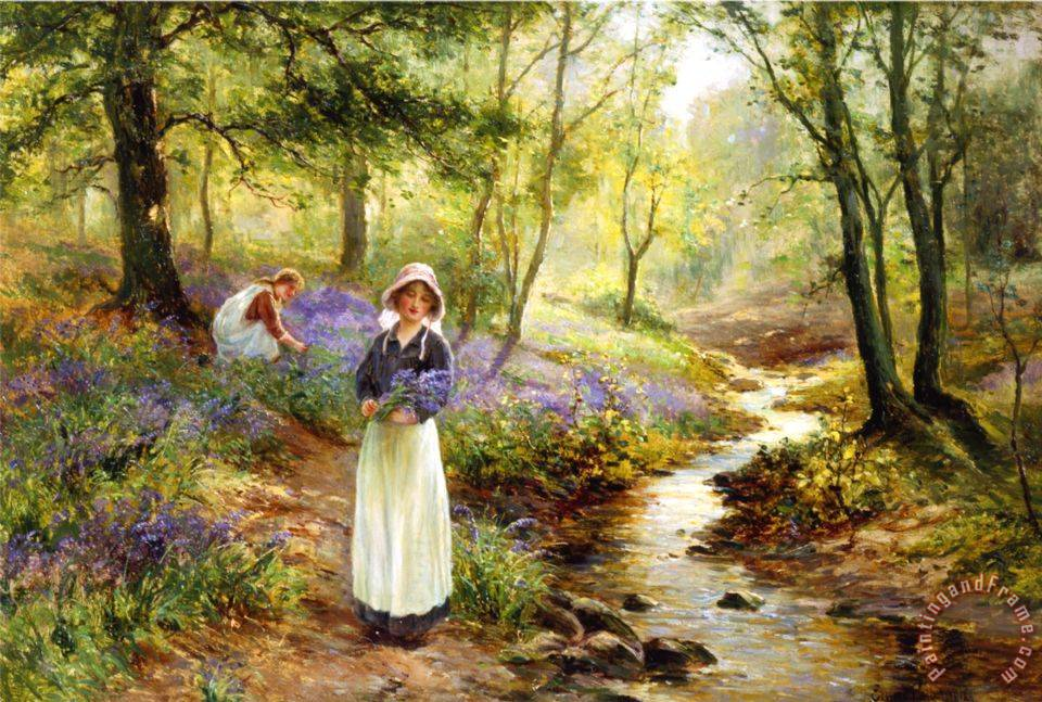 The Bluebell Glade painting - Ernest Walbourn The Bluebell Glade Art Print