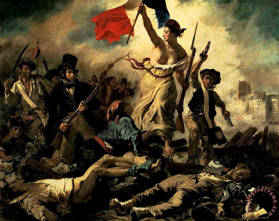 Eugene Delacroix Liberty Leading The People Art Painting