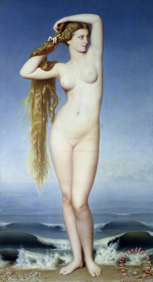 The Birth of Venus painting - Eugene Emmanuel Amaury-Duval The Birth of Venus Art Print