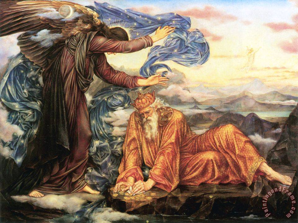 Earthbound painting - Evelyn De Morgan Earthbound Art Print
