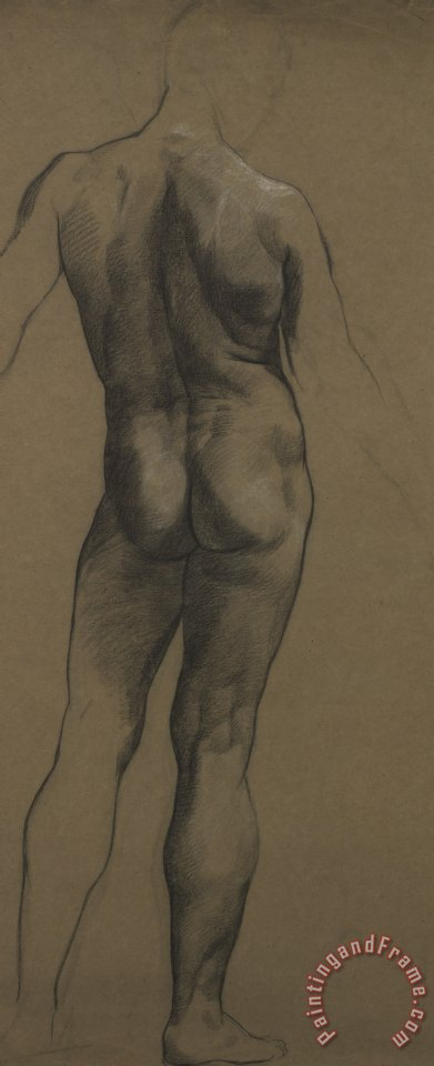 Male Nude Study painting - Evelyn De Morgan Male Nude Study Art Print