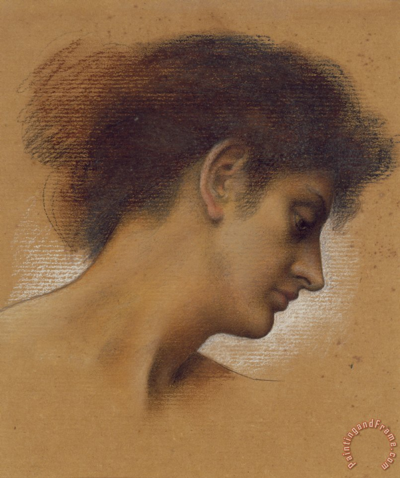 Evelyn De Morgan Study of a head Art Painting