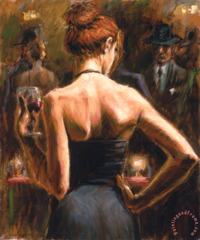 Girl with Red Hair painting - Fabian Perez Girl with Red Hair Art Print