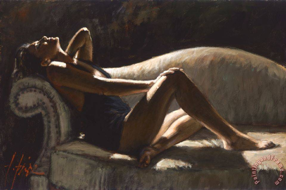Paola on The Couch painting - Fabian Perez Paola on The Couch Art Print