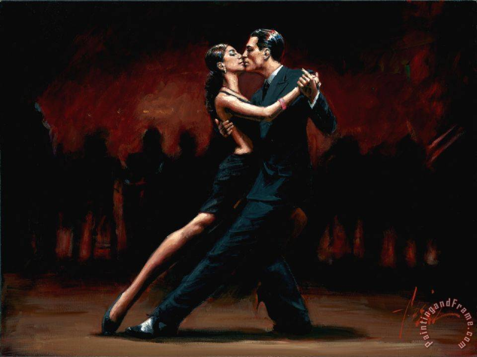 Tango in Paris in Black Suit painting - Fabian Perez Tango in Paris in Black Suit Art Print