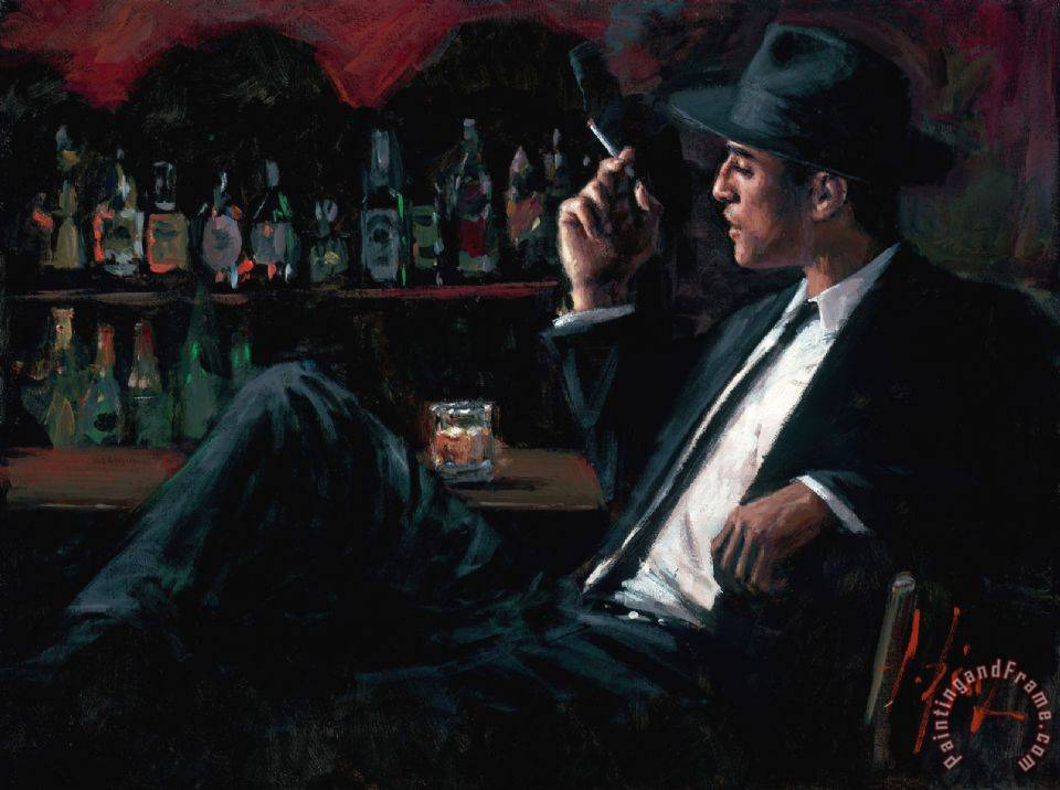 Whiskey at Las Brujas III painting - Fabian Perez Whiskey at Las Brujas III Art Print
