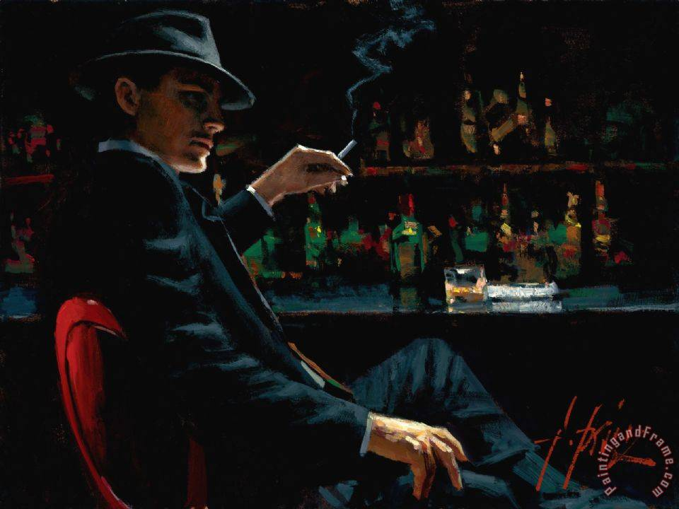 Whiskey at Las Brujas V painting - Fabian Perez Whiskey at Las Brujas V Art Print