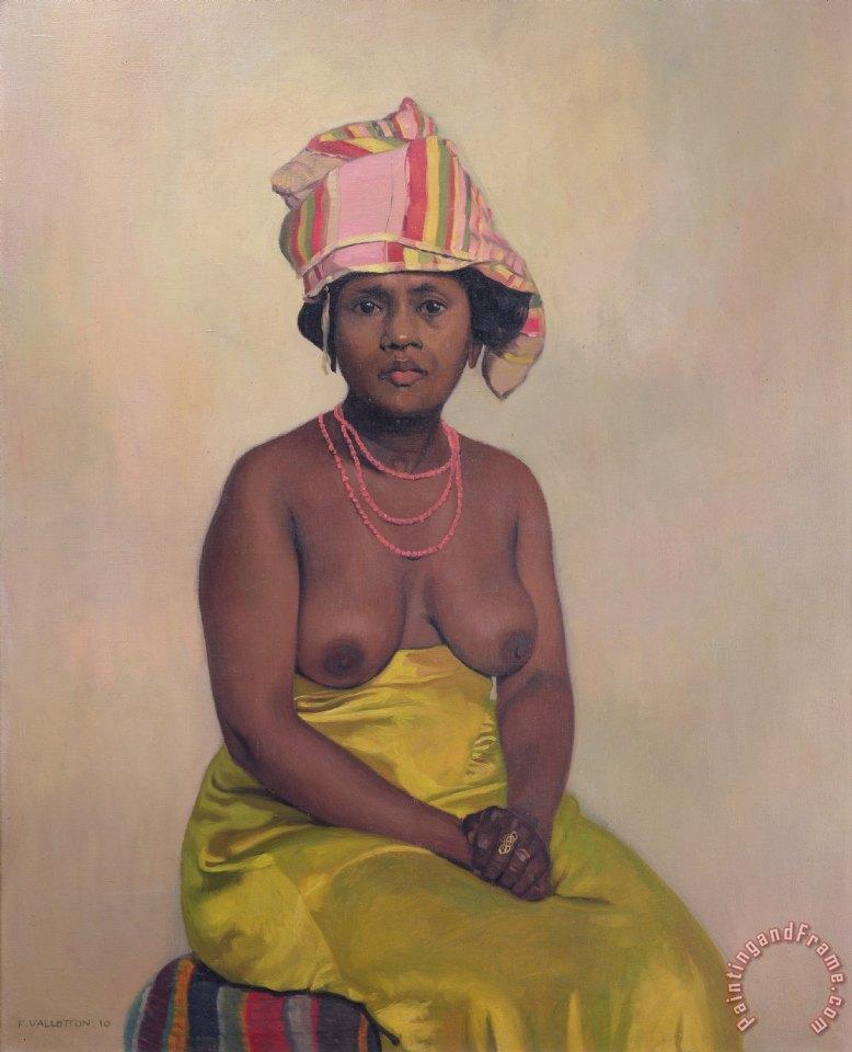 felix edouard vallotton african woman painting african woman print