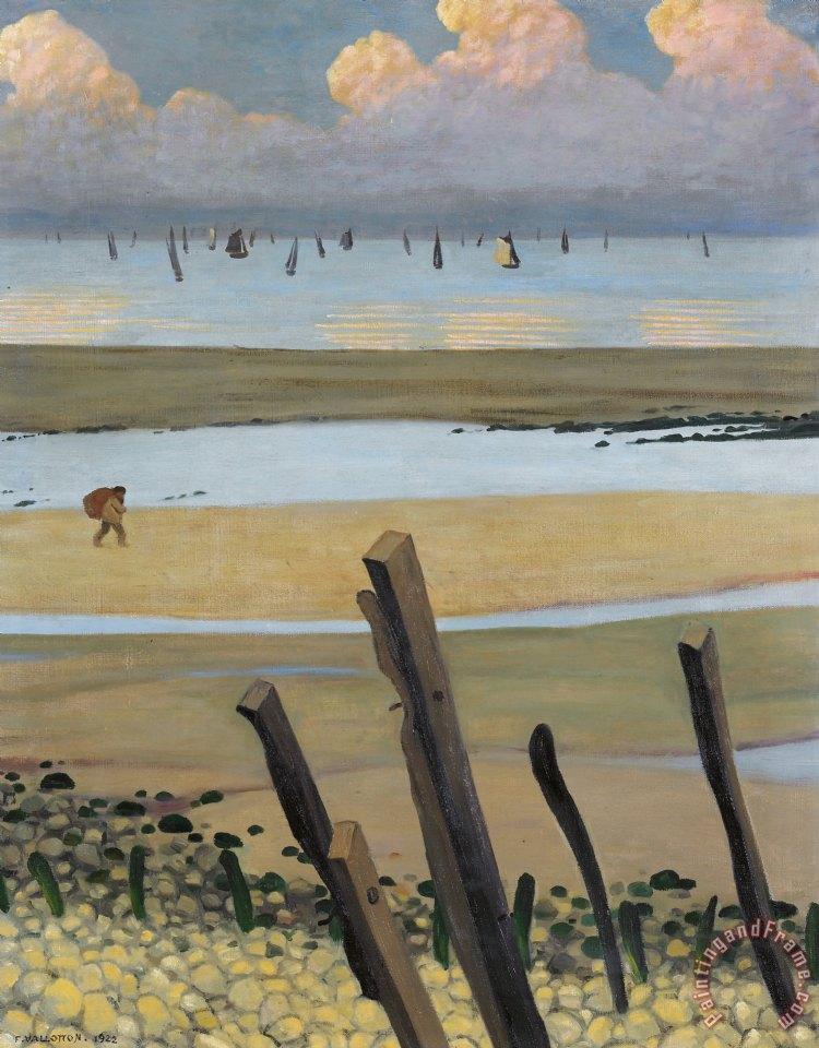 Felix edouard vallotton low tide at villerville painting for Vallotton architecte