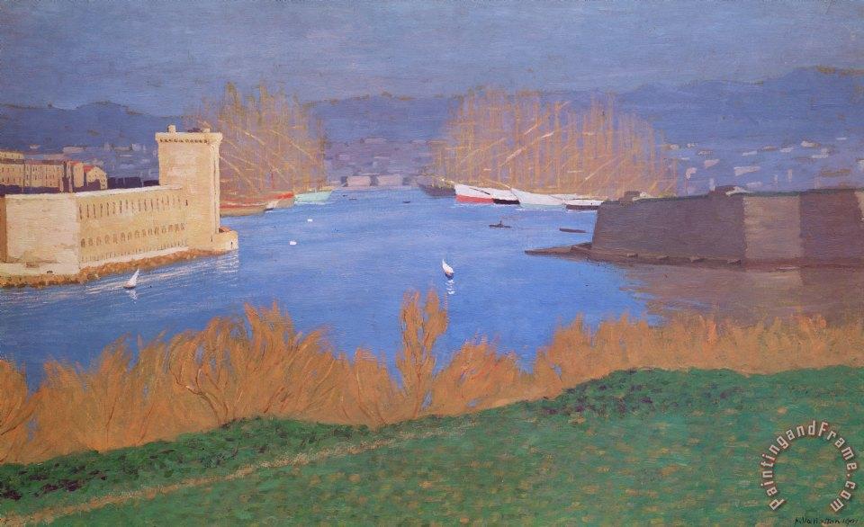 Felix edouard vallotton the port of marseille painting for Vallotton architecte