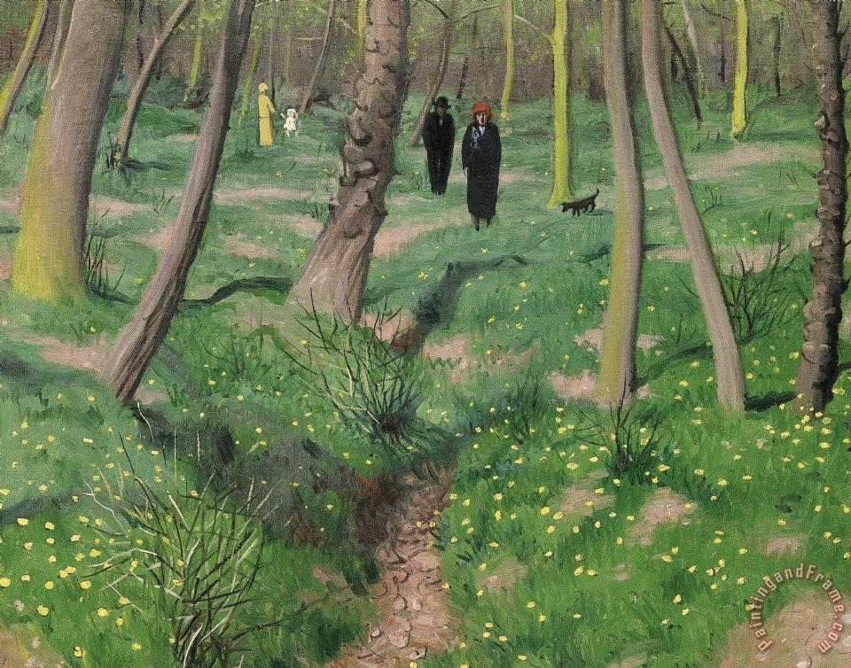 Felix edouard vallotton undergrowth in spring painting for Vallotton architecte