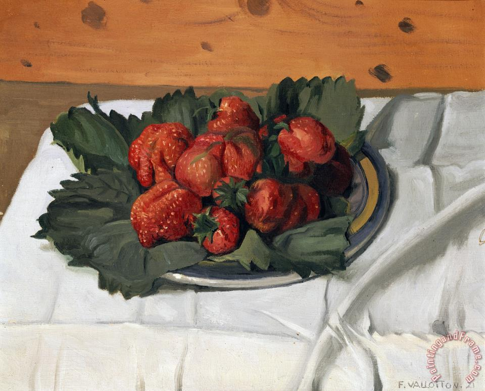 Felix Vallotton Still Life with Strawberries Art Painting