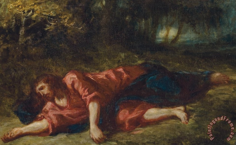 the agony in the garden painting ferdinand victor eugene delacroix the agony in the garden - Agony In The Garden