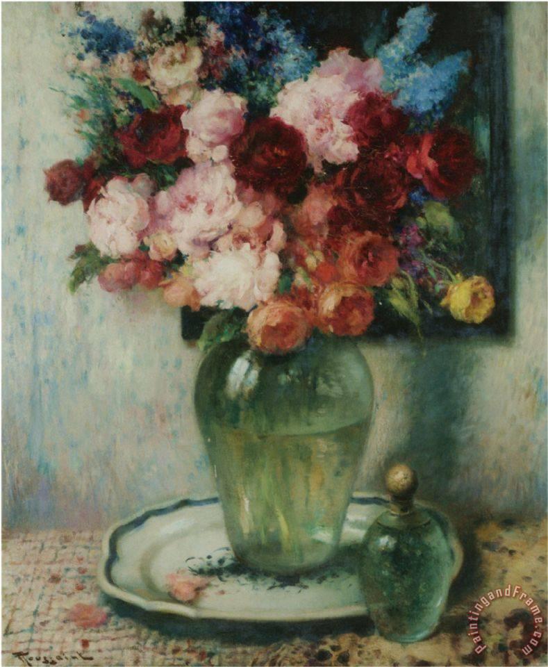 fernand toussaint vase de fleurs painting vase de fleurs print for sale. Black Bedroom Furniture Sets. Home Design Ideas