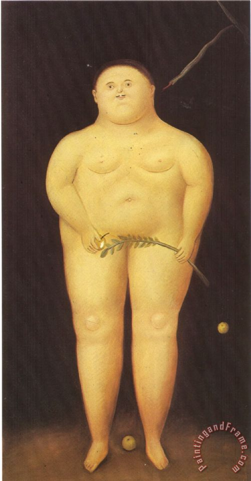 fernando botero Adam And Eve Adam Art Painting