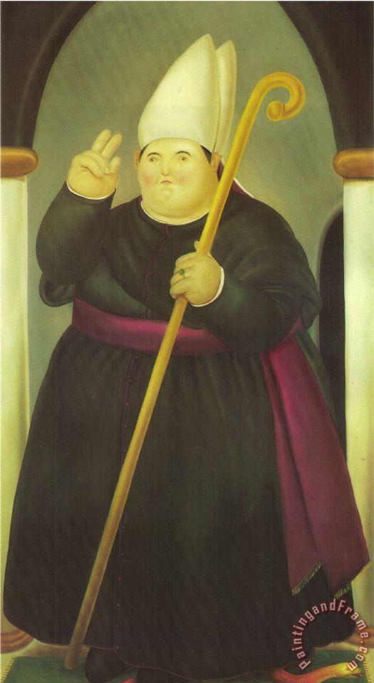 Fernando Botero Bishop Painting Bishop Print For Sale