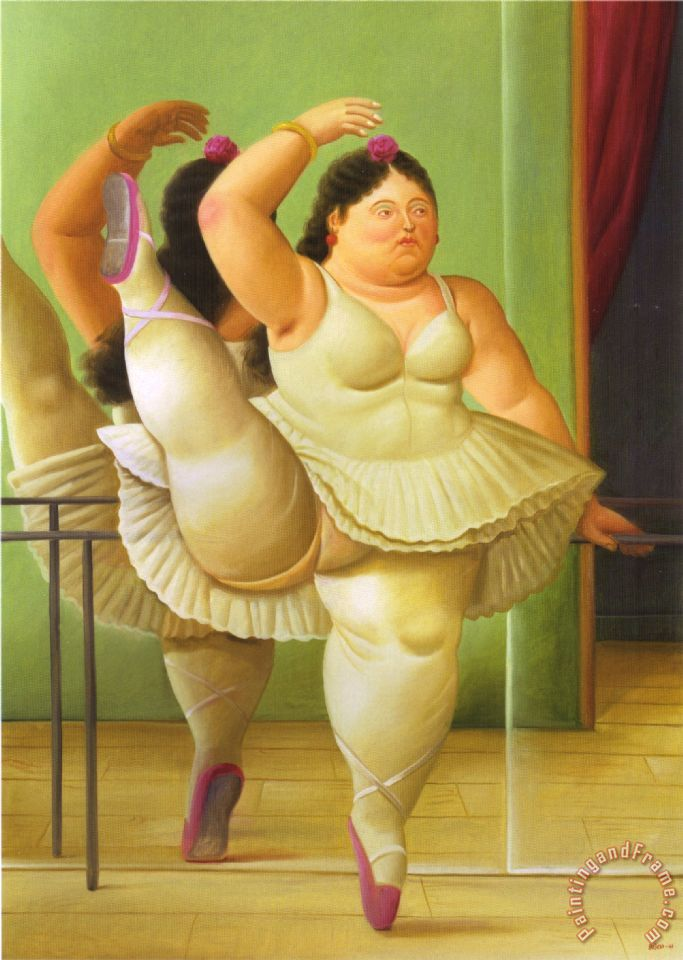 Super fernando botero Dancers at The Bar painting - Dancers at The Bar  BQ83