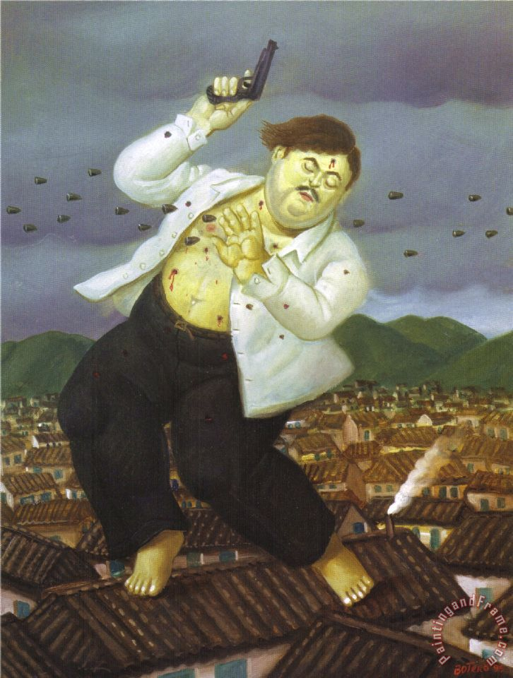 Death of Pablo Escobar painting - fernando botero Death of Pablo Escobar Art Print