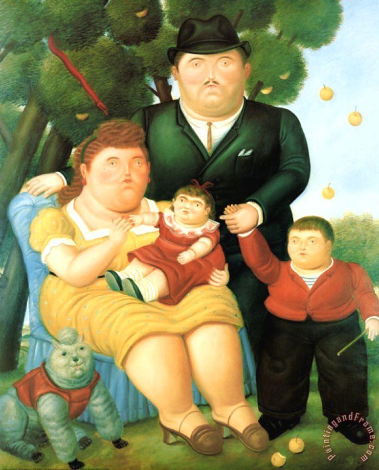 Fernando Botero Family Ii Painting Family Ii Print For Sale