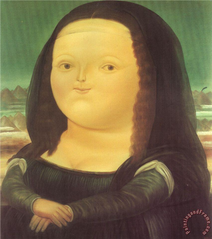 Fernando Botero Mona Lisa Art Painting For Sale