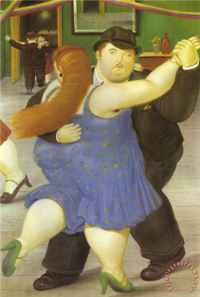 fernando botero The Dancers Art Painting