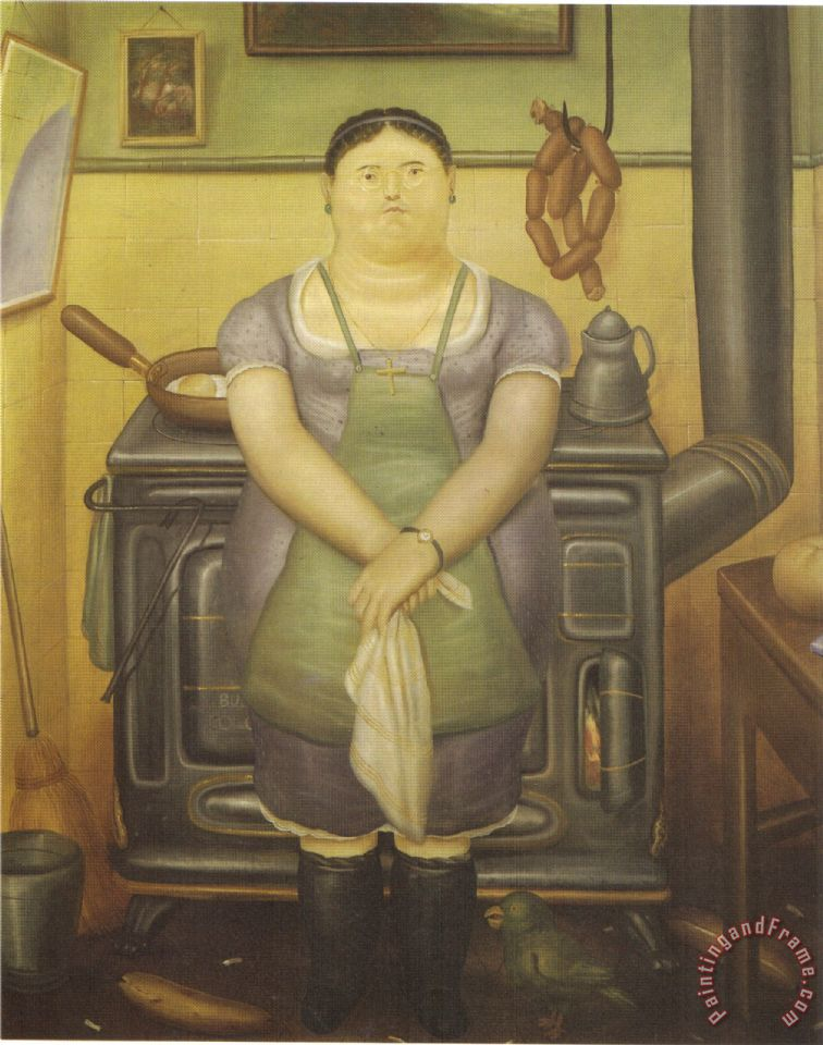 Fernando Botero The Maid Painting The Maid Print For Sale