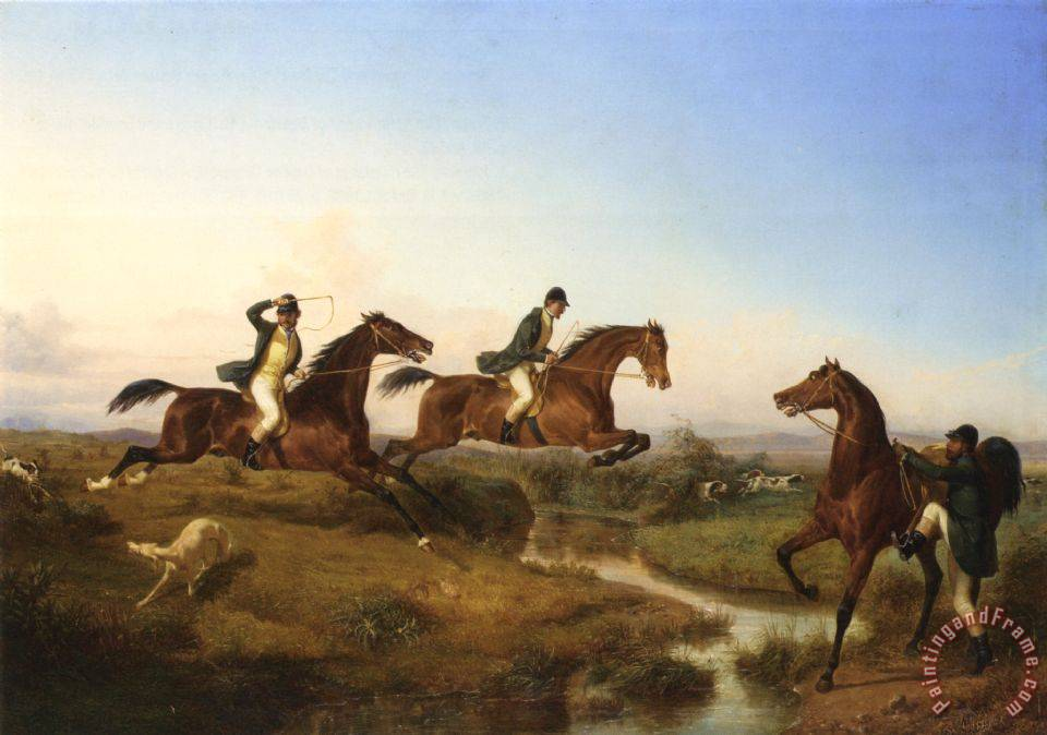 Filippo Palizzi Hunting in The Neopolitan Countryside Art Painting