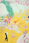 Which One Do You Love Best Prints - Love Flight of a Pink Candy Heart by Florine Stettheimer