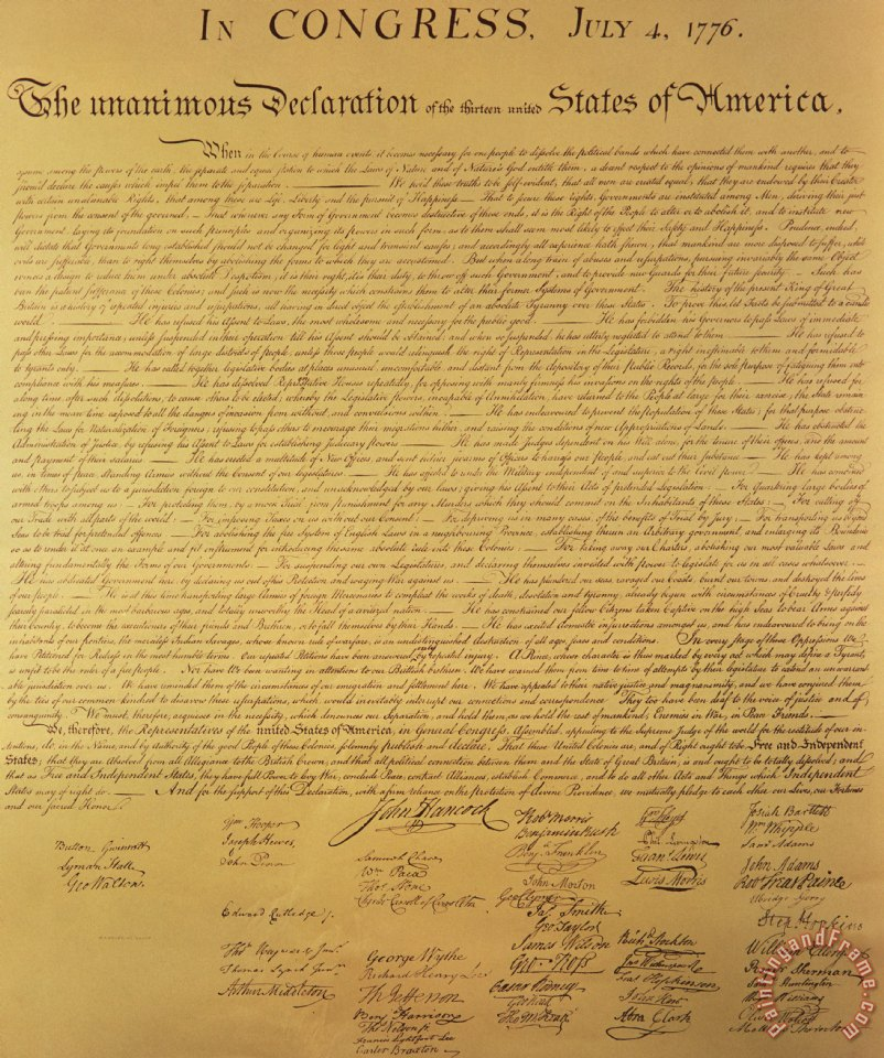 the cryptic declaration of independence of the american founding fathers The declaration of independence has great significance to the american people because it is what led to our independence from king george iii the declaration of independence justified our right to revolt against a government that no longer guaranteed us our natural rights.