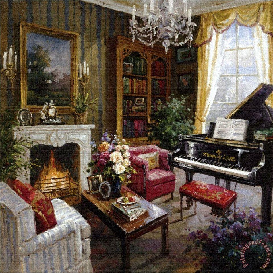 Grand Piano Room Painting   Foxwell Grand Piano Room Art Print
