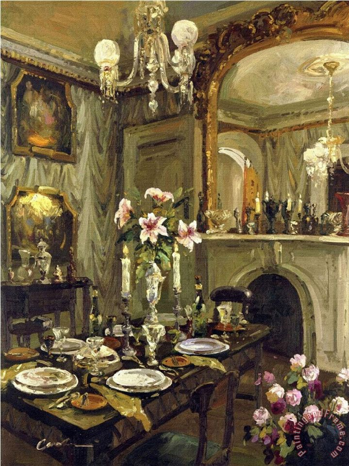 Foxwell the dining room painting the dining room print for Dining room paintings sale