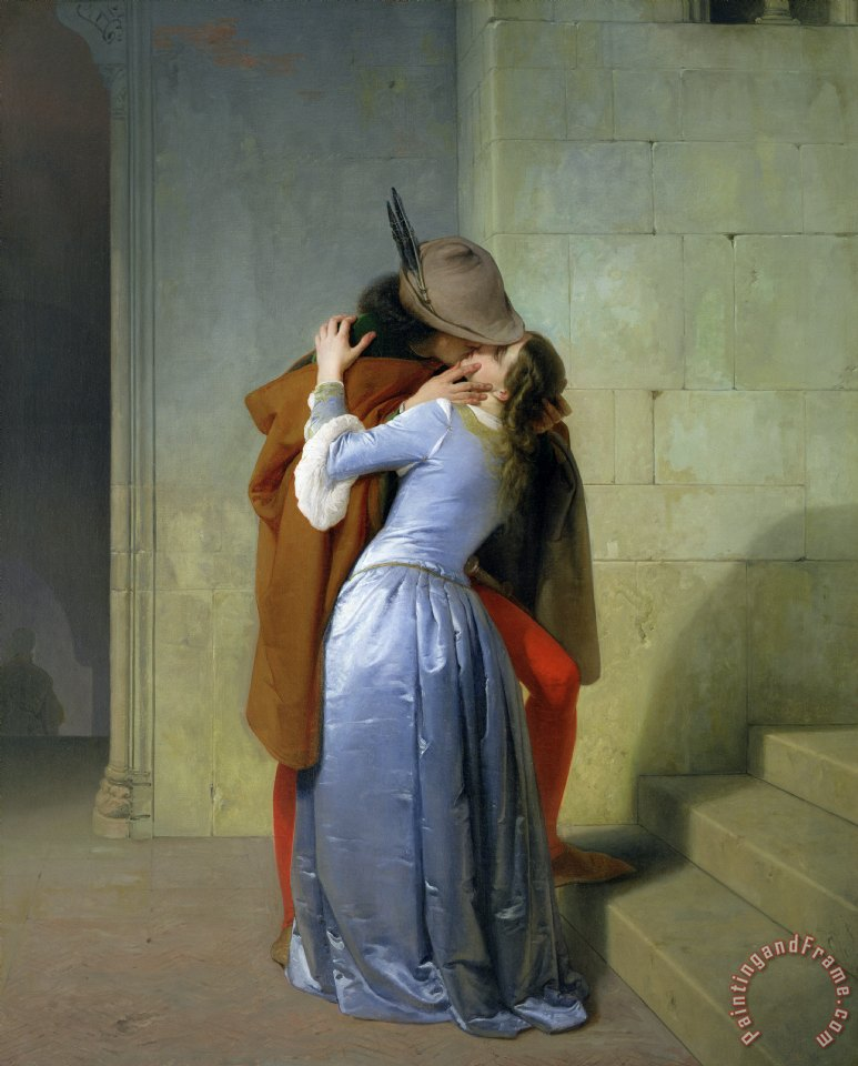 Francesco Hayez The Kiss Art Painting