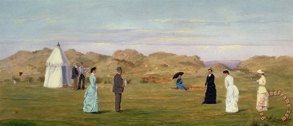 Ladies Match At Westward Ho painting - Francis Powell Hopkins Ladies Match At Westward Ho Art Print