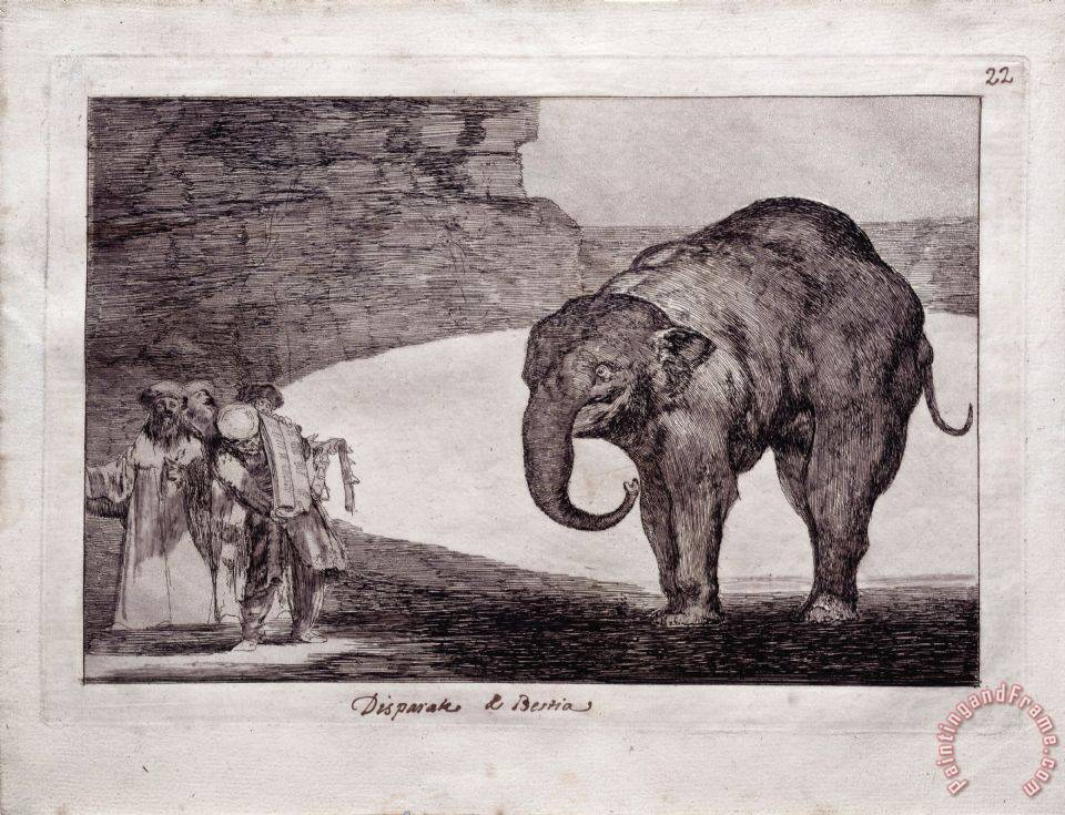 Francisco De Goya Animal Folly Art Print