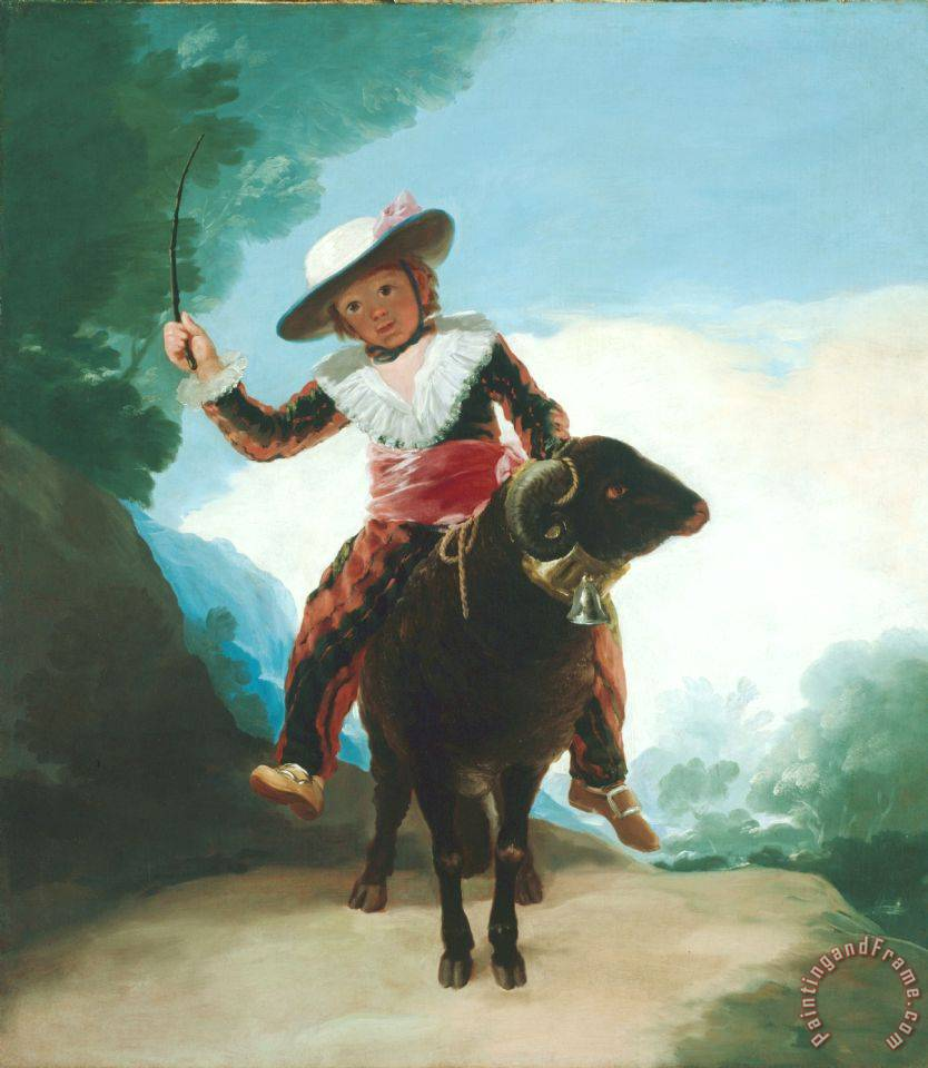 Boy on a Ram painting - Francisco De Goya Boy on a Ram Art Print
