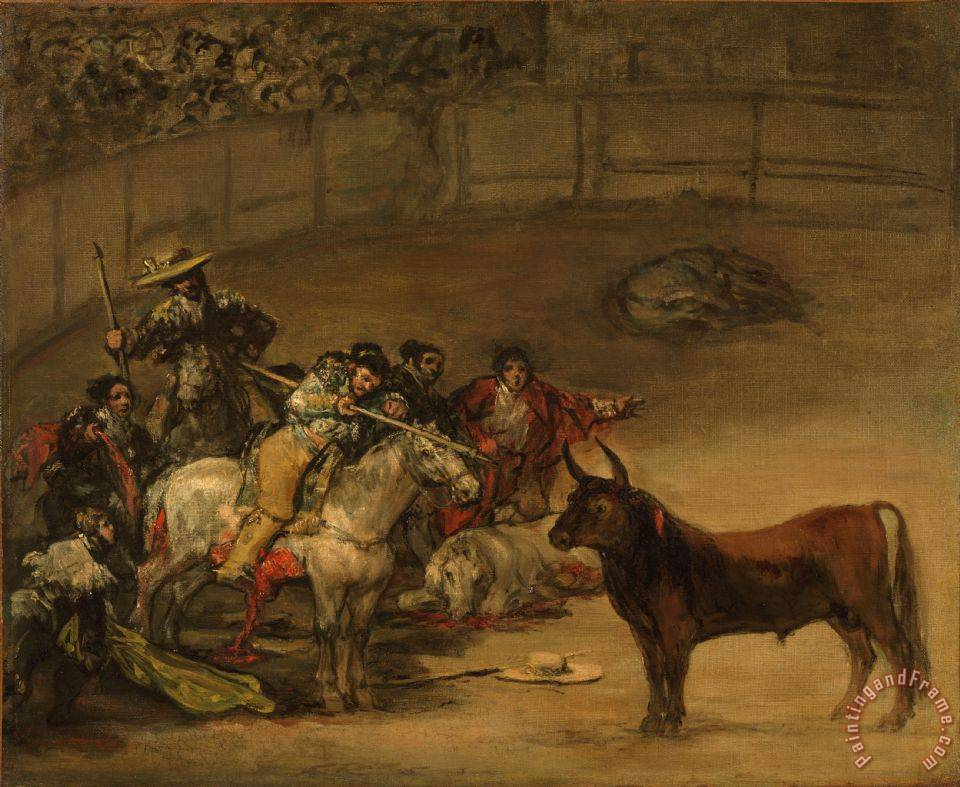 Bullfight, Suerte De Varas painting - Francisco De Goya Bullfight, Suerte De Varas Art Print