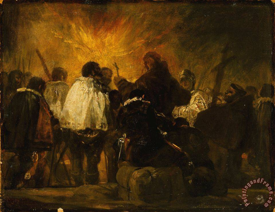 Francisco De Goya Night Scene From The Inquisition Art Print