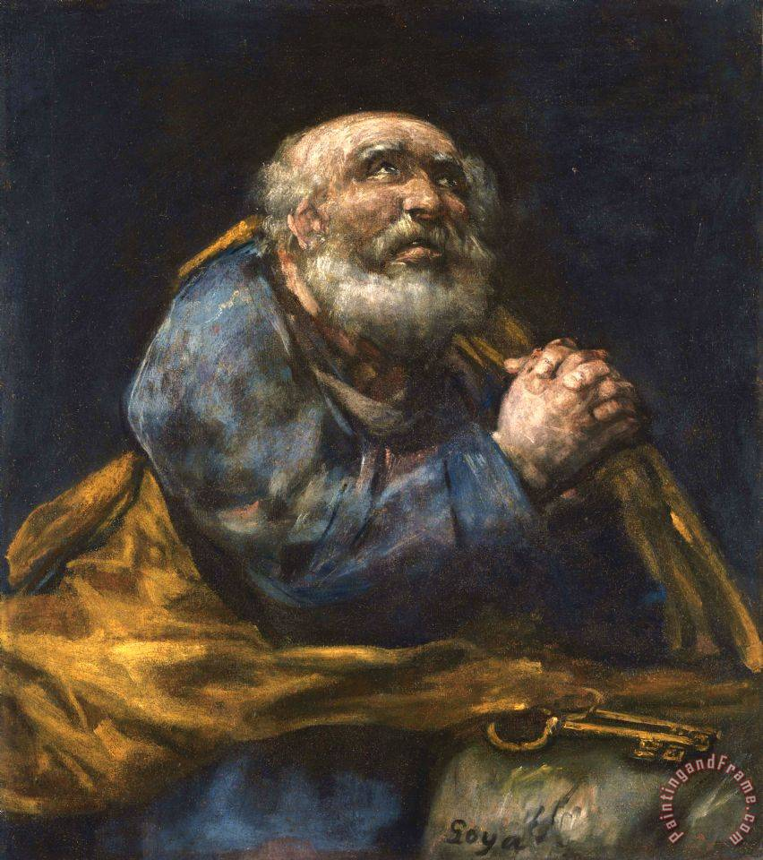 The Repentant St. Peter painting - Francisco De Goya The Repentant St. Peter Art Print