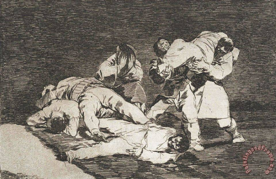 The Same (sera Lo Mismo) From The Series Disasters of War (desastres De La Guerra) painting - Francisco De Goya The Same (sera Lo Mismo) From The Series Disasters of War (desastres De La Guerra) Art Print