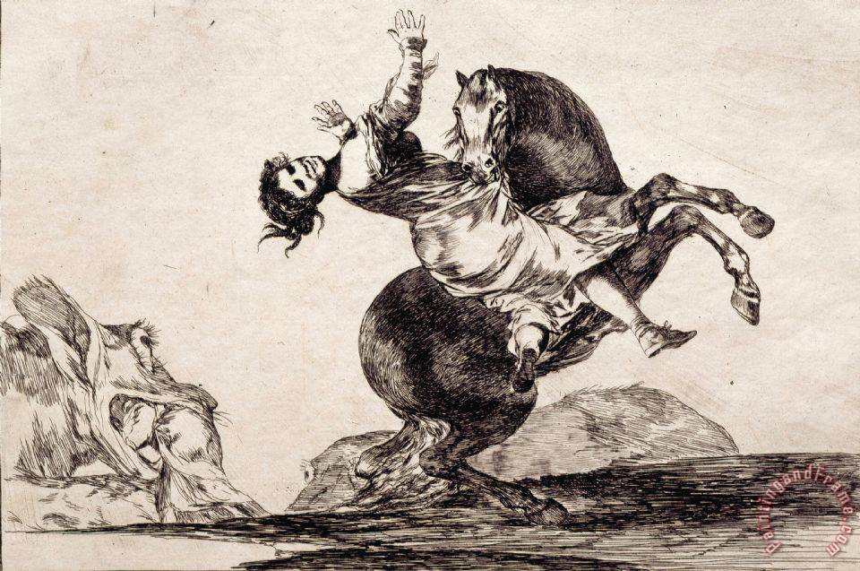 Francisco De Goya Woman Carried Off by a Horse Art Print