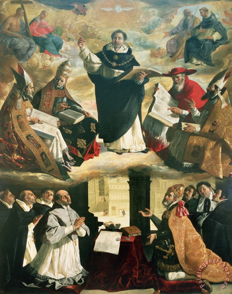 Francisco de Zurbaran The Apotheosis of Saint Thomas Aquinas Art Print