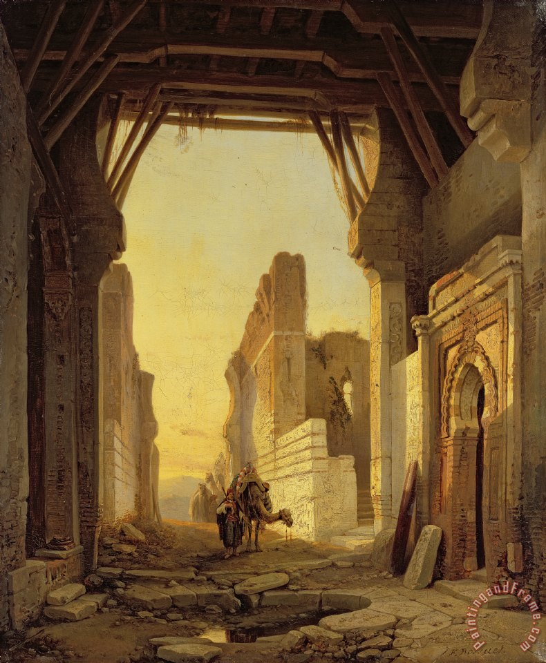 The Gates of El Geber in Morocco painting - Francois Antoine Bossuet The Gates of El Geber in Morocco Art Print