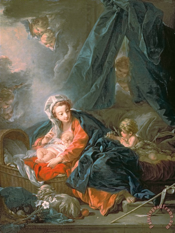 Francois Boucher Madonna and Child Art Print