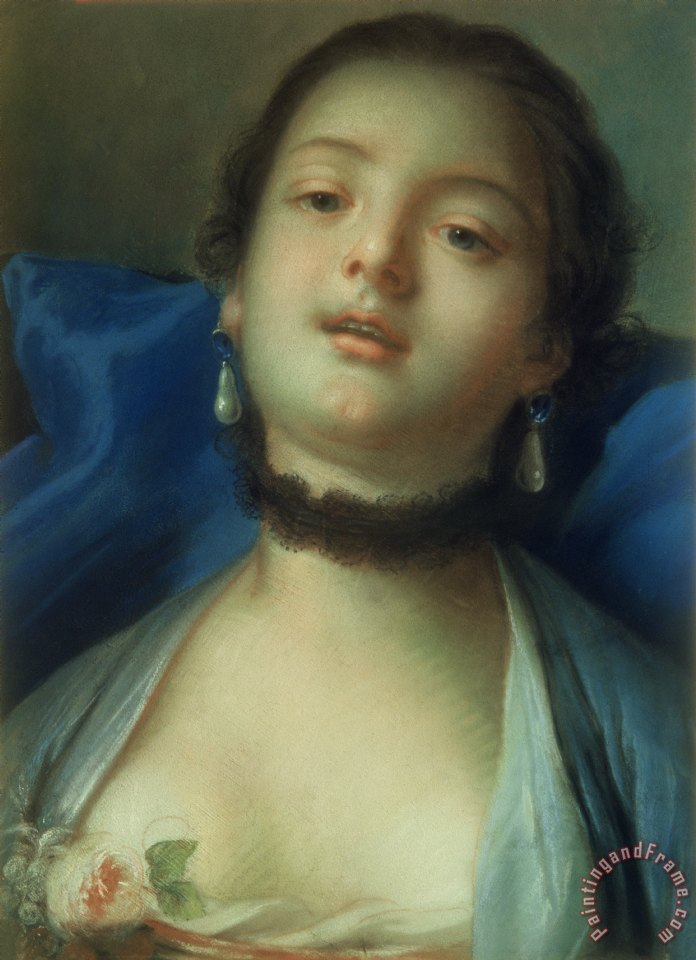 Francois Boucher Portrait of a Woman Art Print
