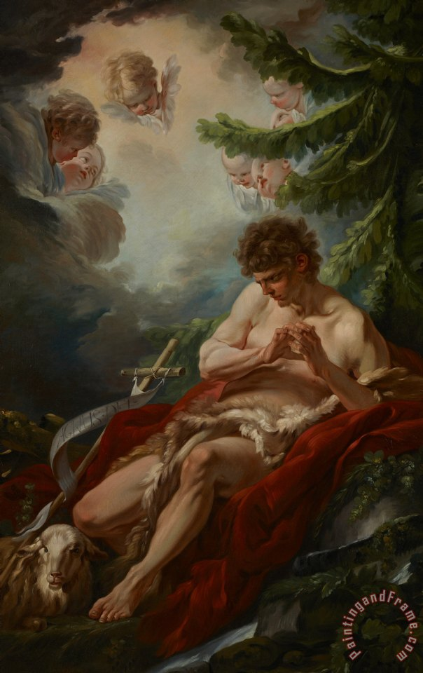 Francois Boucher Saint John The Baptist Art Print