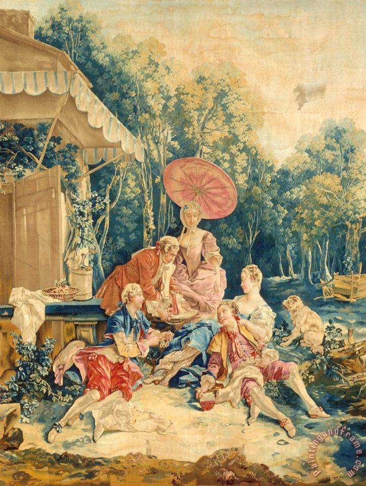 The Collation From a Set of The Italian Village Scenes painting - Francois Boucher The Collation From a Set of The Italian Village Scenes Art Print