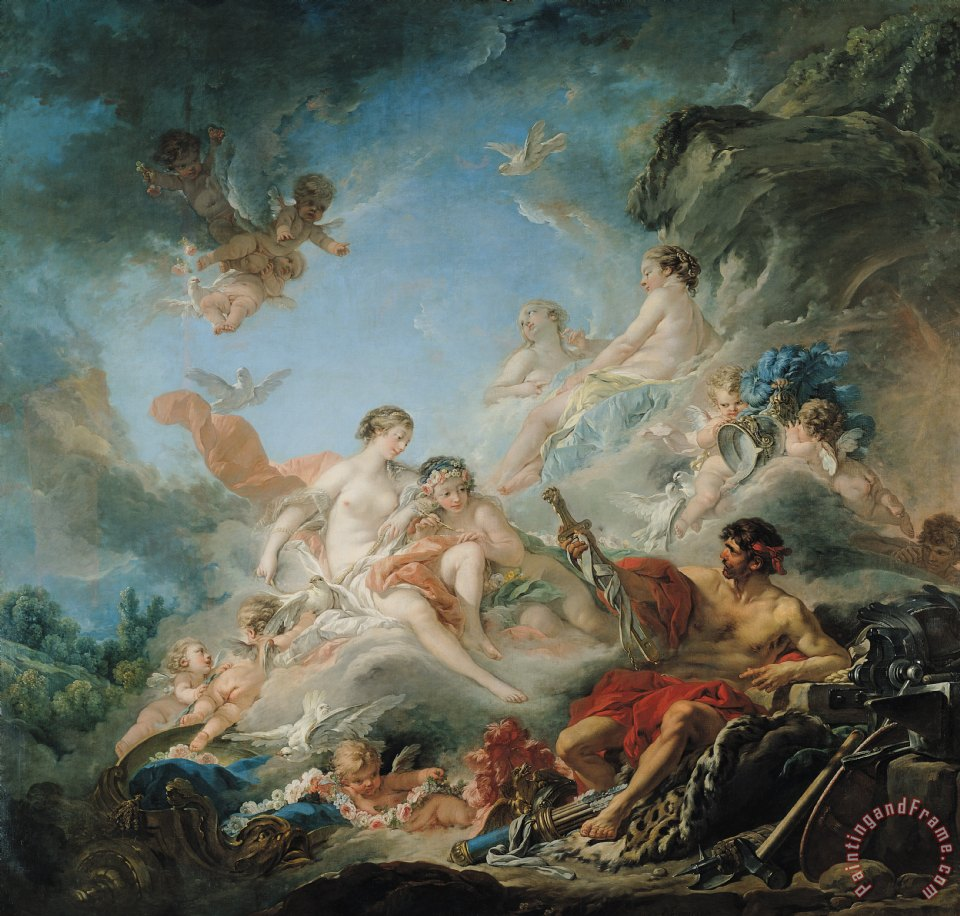 The Forge of Vulcan painting - Francois Boucher The Forge of Vulcan Art Print