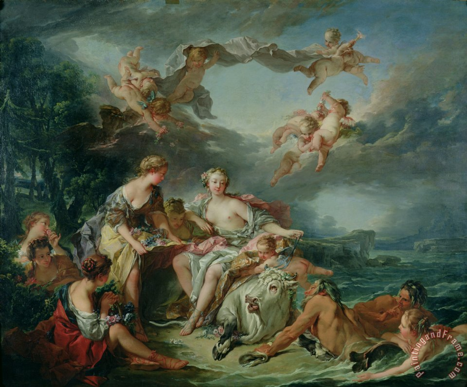 The Rape of Europa painting - Francois Boucher The Rape of Europa Art Print