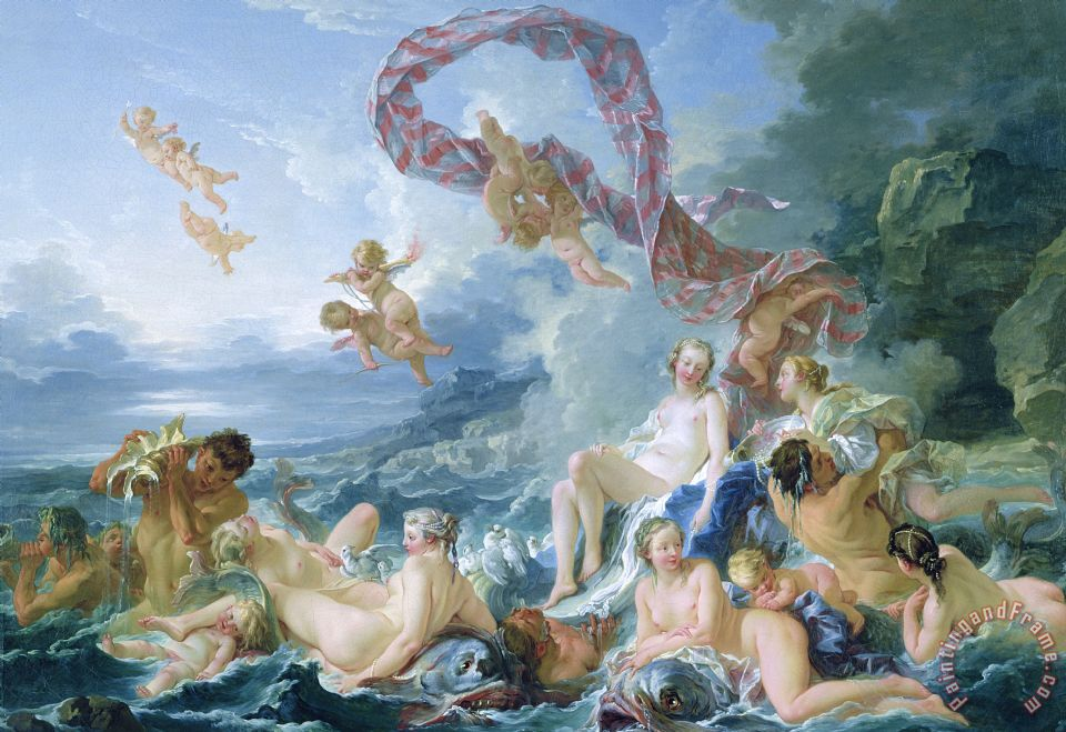 Francois Boucher The Triumph Of Venus Art Print